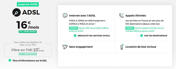 L'offre internet en promotion de RED en mai 2020 : l'ADSL à 16 euros par mois