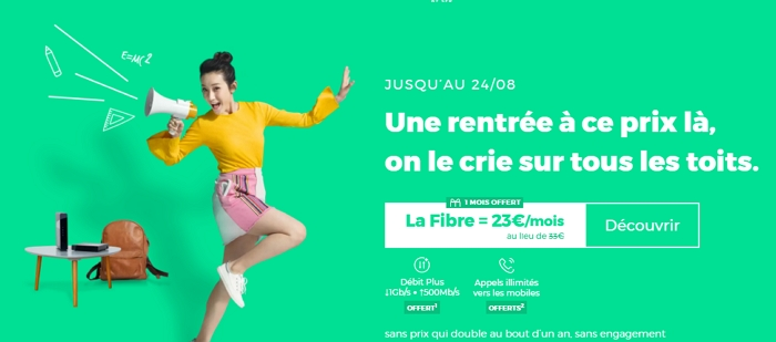Box RED : offre Internet de rentrée à 23€/mois
