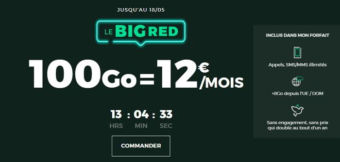 Forfait 100 Go à 12 euros par mois chez RED de SFR : les détails de l'offre