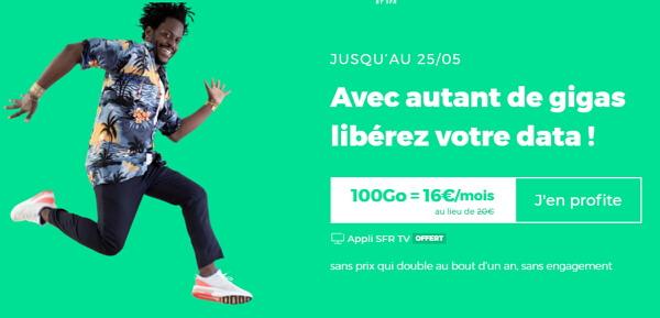 La meilleure offre mobile de mai 2020 chez RED : forfait 100 Go à 16 euros par mois