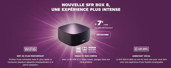La box 8 de SFR est en option à 7€/mois avec la série limitée Welcome Back