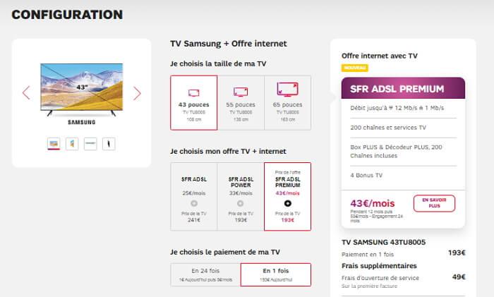 Configuration des offres Internet SFR avec Smart Tv Samsung