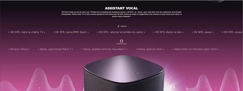 Amazon Alexa et OK SFR sont les deux assistants vocaux intégrés sur la SFR box 8