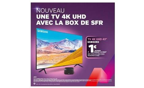 Visuel de l'offre box SFR avec TV Samsung