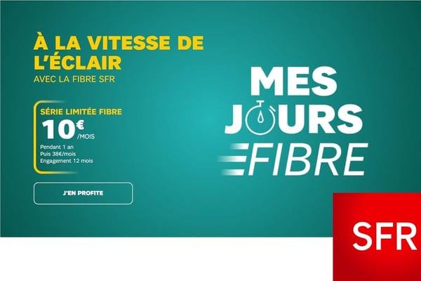 La série limitée SFR permet de s'équiper d'une bolx internet à 10€.
