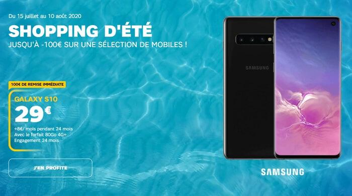 Samsung Galaxy s10 en promotion chez SFR