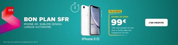 l'Iphone Xr est en promo avec les offres forfait + mobile de SFR