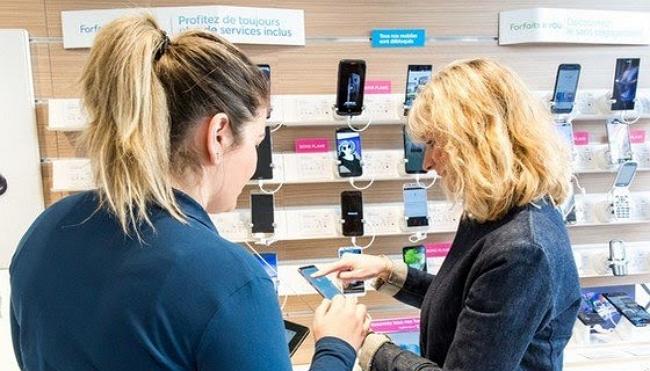 Reprise d'un téléphone dans une boutique Bouygues Telecom