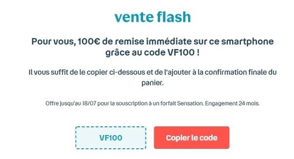 100€ de remise immédiate sur l'achat de votre smartphone avec la vente flash Bouygues Telecom