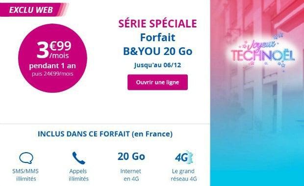 Détail de l'offre Bouygues 20 Go à 3,99€