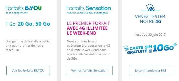 Carte SIM 10 Go offerte chez Bouygues