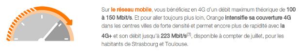 lancement 4g+ d'orange