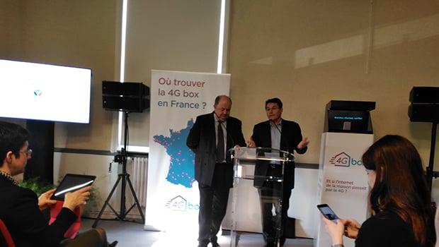 La conférence de presse 4G box à Neuville-de-Poitou