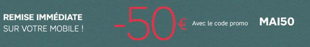 50 euros de remise code promo