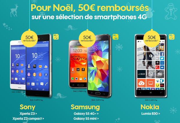 offres de remboursement sur smartphones 4G