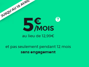 5 euros par mois