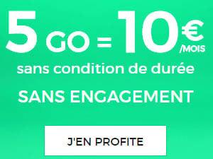10 euros 5Go