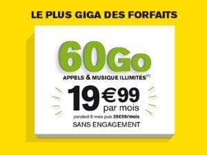 La Poste Mobile : forfait 60 Go