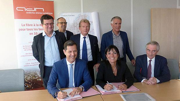 Signature convention de financement AND CA VASRA