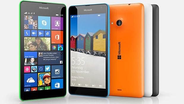 Lumia 535, double-SIM, 3G+ et écran de 5 pouces