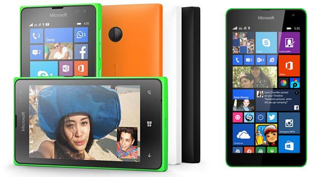 Lumia 535, avec toute une gamme de périphériques dans tous les coloris