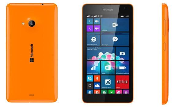 Lumia 535, 2 appareils photos de 5 mégapixels