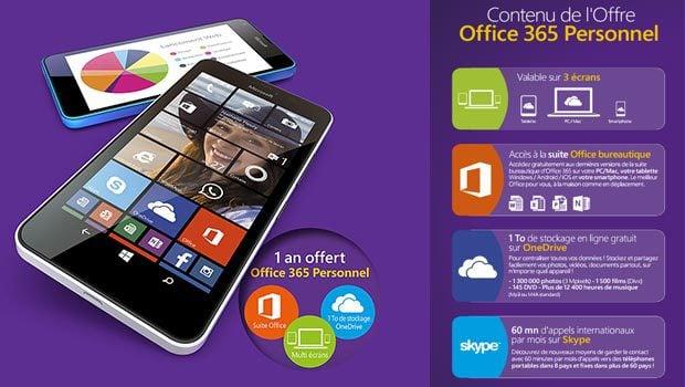 Abonnement Office 365 offert sur un an sur 3 écrans