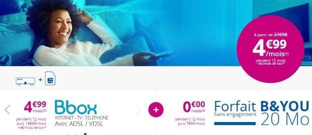 Box + mobile pas cher chez Bouygues Telecom