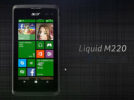 Acer Liquid M220 sous Windows Phone 8.1