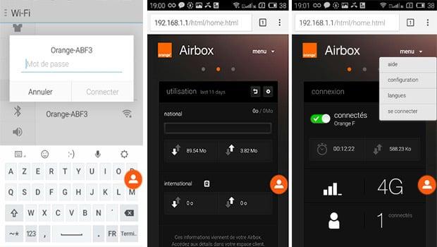 Airbox Auto se gère aussi via une interface en ligne