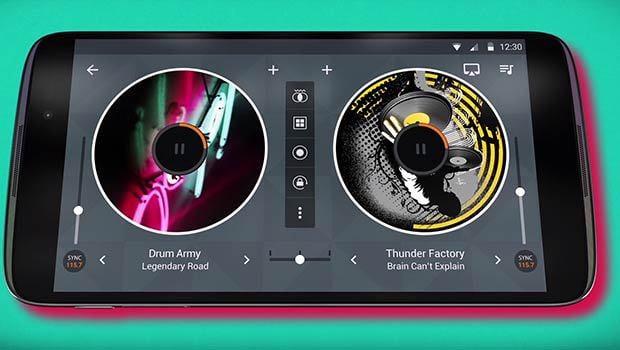 L'application Mix permet de mixer des morceaux manuellement ou de façon automatique