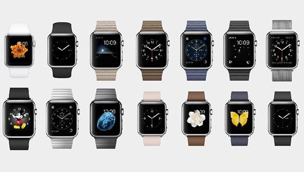 Apple Watch : des dizaines de modèles