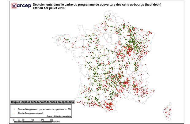 La couverture 3G des centres-bourgs