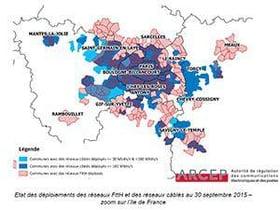 l'Ile de France privilégie pour le THD