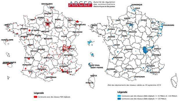 Le déploiement du THD en France