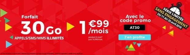 Promo mobile 30 Go Auchan Telecom