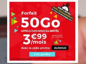Auchan telecom forfait 50Go