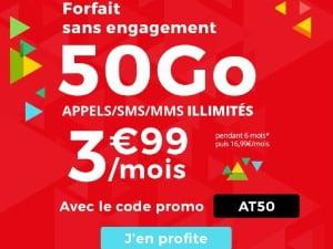 Forait mobile en promo : Auchan Telecom 50 Go