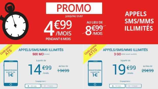 Jusqu'à -10€/mois de remise sur le fofait 3Go Auchan Telecom avec mobile