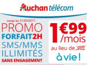 Auchan Telecom à 1,99€/mois