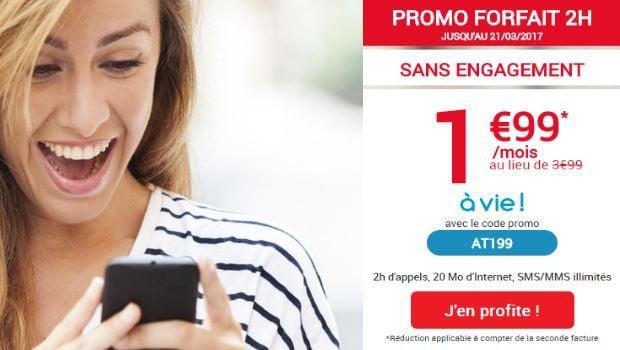 Promo à 1,99€/mois à vie chez Auchan Telecom