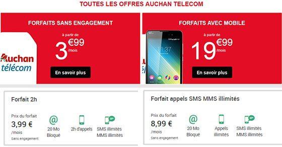 Des options à la carte pour se créer son forfait Auchan Telecom
