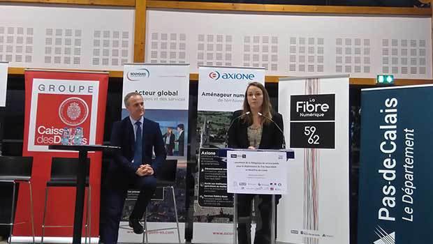 Axelle Lemaire officialise fin novembre 2016 Axione comme délégataire pour la fibre dans le Nord et le Pas-de-Calais