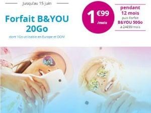 Offre mobile Bouygues en promo
