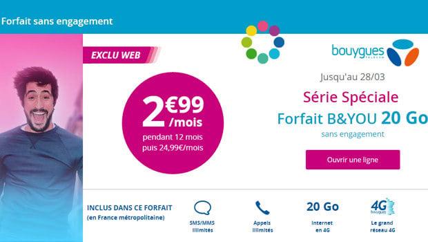 B&You 20Go moins de 3€/mois