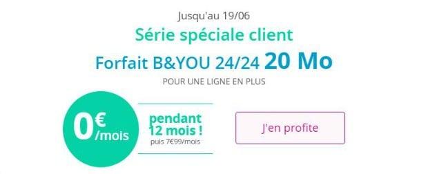 Bouygues : forfait mobile offert avec abonnement Internet