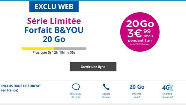 B&You 20Go à moins de 4 euros