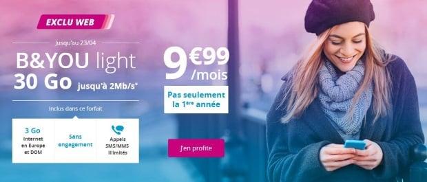 Bouygues : offre mobile en promo à petit prix