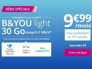 Bouygues Telecom : série spéciale 3à Go à petit prix