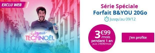 Offre Bouygues B&You 20 Go à 3,99€